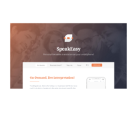 SpeakEasy Landingpage